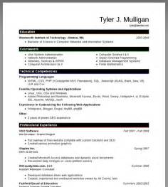free writing resume sle regular resume sle