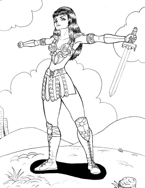xena warrior princess coloring pages coloring pages