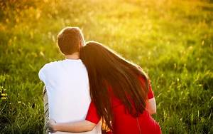 Romantic young couple hugs and love scene wallpapers - New ...