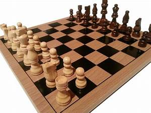 Traditional Chess Board And Pieces