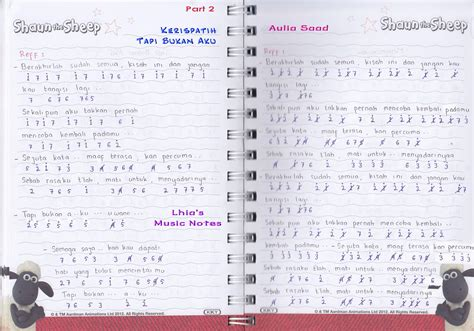 not angka lagu kepompong catatan not lagu kerispatih quot tapi bukan aku quot piano pemula not angka