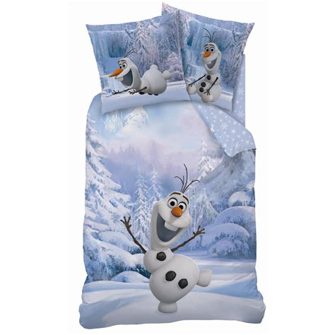 reine des neiges olaf snowman parure 140 x 200 plc r 233 f fro432323 frozen reine des