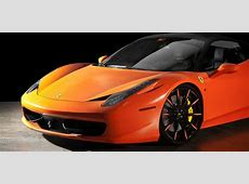 Ferrari 458 Italia in Satin Orange on Lexani Wheels