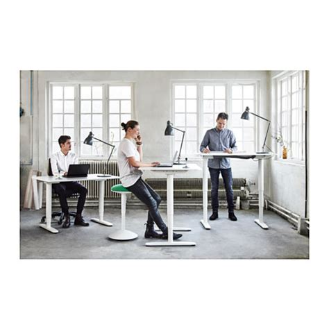 sit stand office desk bekant desk sit stand black brown white desks office