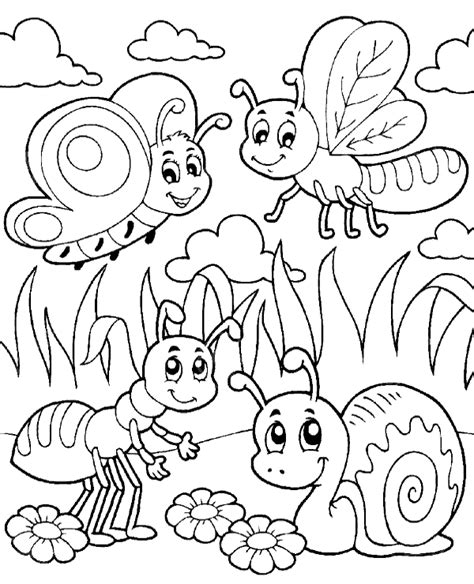 insects coloring page   print  color