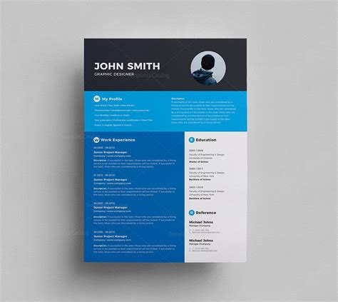 Stylish Resume Templates by Stylish Resume Template 000293 Template Catalog
