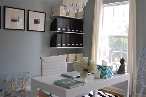 Blue Gray Paint Colors Contemporary den/library/office Benjamin Moore Smoke