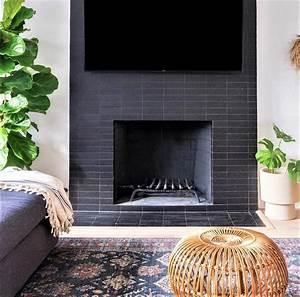 Brick, Subway, Tiles, Surrounding, Fireplace