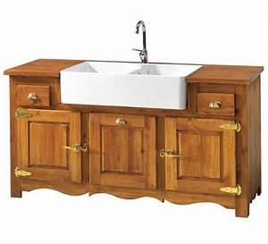 Meuble Cuisine Campagne : meuble double vier campagne casita 1601 ~ Teatrodelosmanantiales.com Idées de Décoration