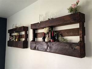 Wine racks made out of wooden pallets Classically Lovely