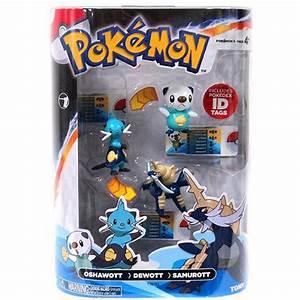 pokemon toys oshawott dewott samurott 3 pack