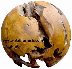 Teak Wood Balls from Indonesia