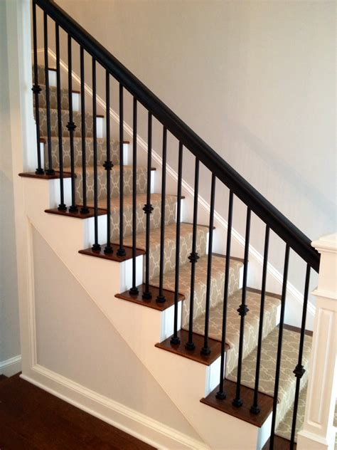 metal banister jennifer taylor design custom staircase iron spindles wood handrail wood newel post