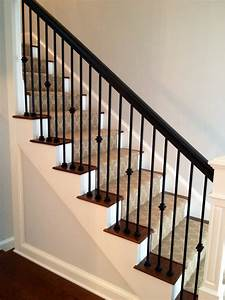 Jennifer taylor design custom staircase iron spindles for Handrails for stairs