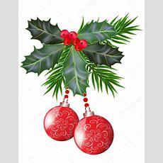 Carte De Noël Et Du Nouvel An Avec Des Feuilles De Houx Et Baies — Image Vectorielle G215