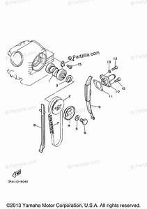 Yamaha Atv 2000 Oem Parts Diagram For Camshaft  U0026 Chain