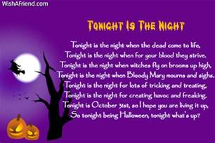 Scary Poems About Halloween by Halloween Poems