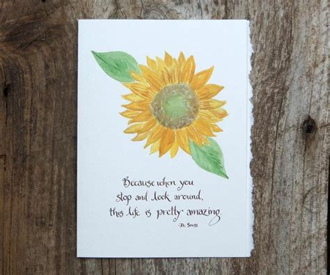 amazing sunflower quote card els cards