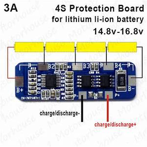 4s 3a Protection Circuit Pcb Module Pcm For 14 8v 18650