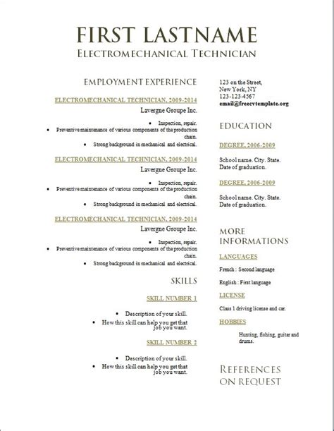 Best Resumes Exles 2014 by 2014 Best Resume Format