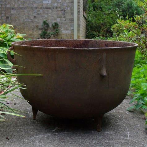 Antique Cast Iron Cauldron Bean Pot Gypsy Kettle Camp Pot