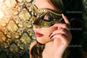 Beautiful Girl In Carnival Mask Fashion Trend