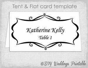 Place card template tent and flat name card templates for Tent place card template