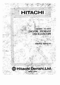 Hitachi Eub 525 Service Manual