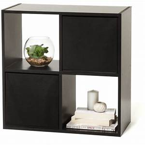 Homemaker 4 cube storage unit black kmart for Homemakers furniture traralgon