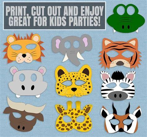 safari animal mask printables kids safari masks