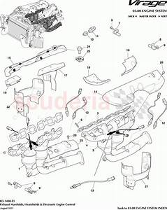 Aston Martin Virage Exhaust Manifolds  Heatshields And