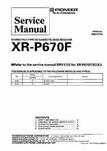 Pioneer Xr-p670f Service Manual
