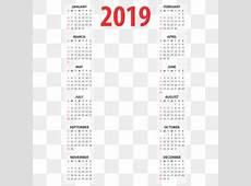 Calendário 2019 Png, Vetores, PSD e Clipart Para Download