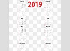 Calendario 2019 Imágenes PNG Vectores y archivos PSD