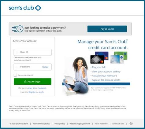 Currently, there are three ways how you can pay your sam's club card: Sam's Club Credit Card Login, Payment, Customer Service - Microknack