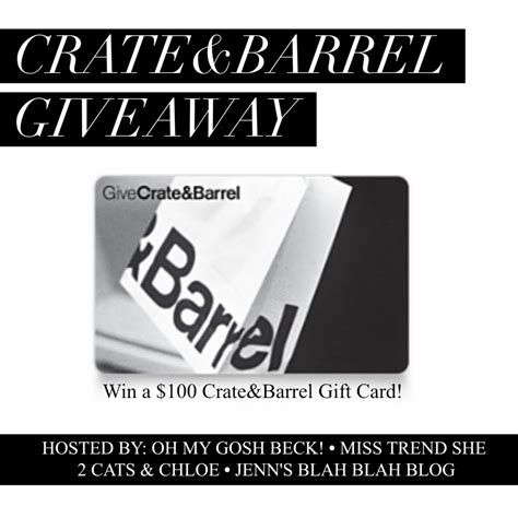 Crate and barrel e gift card. Couponing Momma Giveaways & Reviews: {CLOSED} Giveaway   $100 Crate & Barrel Gift Card Giveaway ...