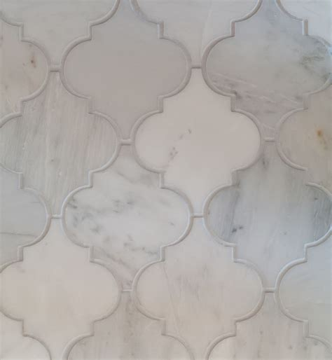 Arabesque Tile Oriental White Marble Honed. For the city