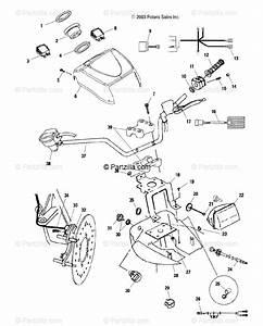 Polaris Atv 2004 Oem Parts Diagram For Handlebar And