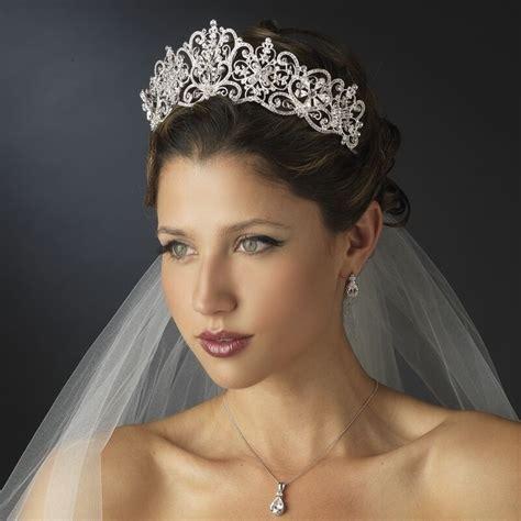 silver crystal rhinestone royal princess wedding bridal