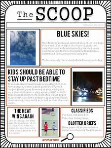 A student newspaper template to use for class writing for Free printable newspaper template for students
