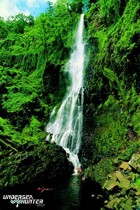 waterfall cocos island costa rica wwwunderseahunter