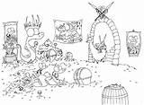 Pile Alligators Llamas Designlooter sketch template