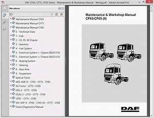 Daf Cf65  Cf75  Cf85 Series Maintenance And Workshop