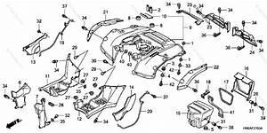 Honda Atv 2006 Oem Parts Diagram For Rear Fender   U0026 39 06