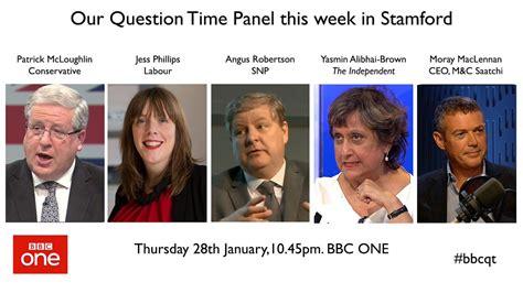 tonights question time panel ukpolitics