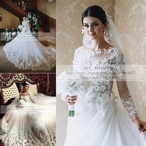 Victorian islamic wedding dresses 2016 a line long sleeves for Plus size victorian wedding dresses