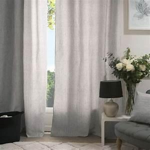 Rideau Gris Clair : rideau tamisant 140 x 260 cm manu gris clair rideau tamisant eminza ~ Teatrodelosmanantiales.com Idées de Décoration