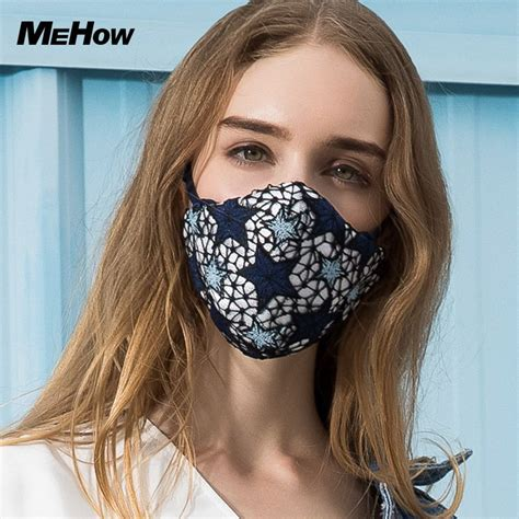 mehow fashion star pattern embroidery mouth mask anti pm