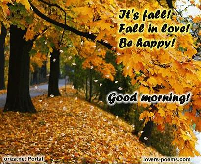 Morning Fall Happy Autumn Quotes Gifs Messages