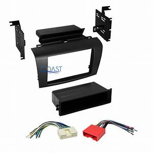 Single 2 Din Car Radio Stereo Dash Kit Wire Harness Combo For 2004